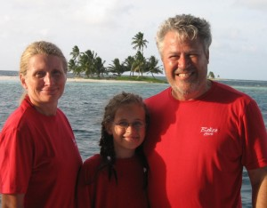In 2005, we sailed in Belize.