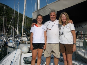We sailed the Adriatic in 2009 on a monohull.